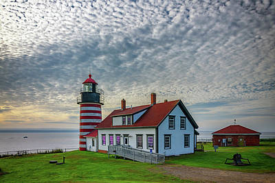 Photograph - Summer Morning At West Quoddy Head Lighthouse by Rick Berk