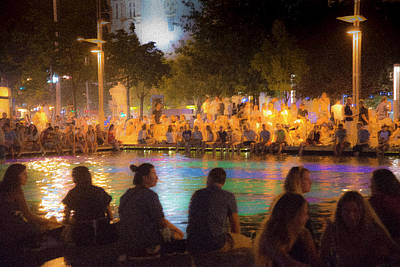 Photograph - Summer Night At The Pool by Alex Lapidus