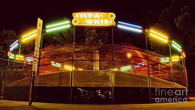 Photograph - Summer Night At The Tilt-a-whirl by Mark David Zahn Photography