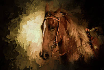 Painting - Summer Night In The Show Ring by Jai Johnson