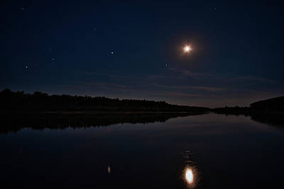 Photograph - Summer Night Over Desna River. Lebedivka, 2018. by Andriy Maykovskyi