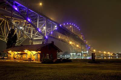 Photograph - Summer Night Under The Blue Water Bridges by Scott Bert