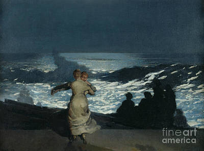 Rolling Stone Magazine Painting - Summer Night by Winslow Homer