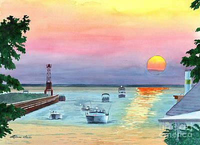 Painting - Summer Nights by LeAnne Sowa