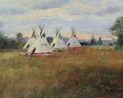 Tipi Painting - Summer Nomads by Anna Rose Bain