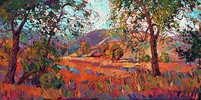 Painting - Summer Oaks by Erin Hanson