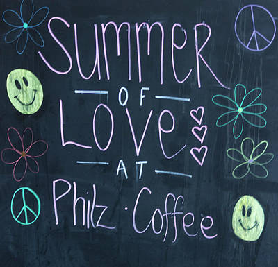 Photograph - Summer Of Love At Philz Coffee by Suzanne Gaff