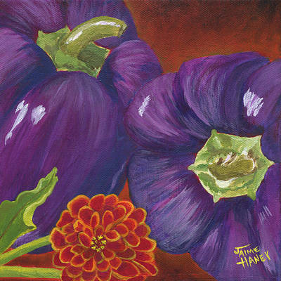 Contemporary Byzantine Art Painting - Summer Of Purple by Jaime Haney