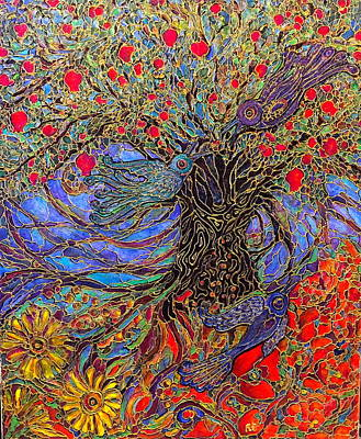 Painting - Enchanted Garden by Rae Chichilnitsky