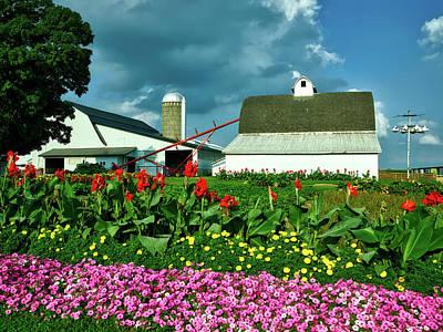 Amish Farms Photograph - Summer On An Amish Farm by Mountain Dreams