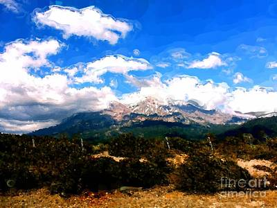Painting - Summer On Mt. Shasta by Methune Hively