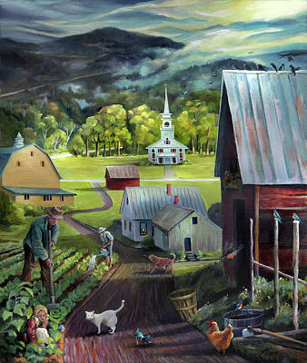 Painting - Summer On The Back Road In Vermont by Nancy Griswold