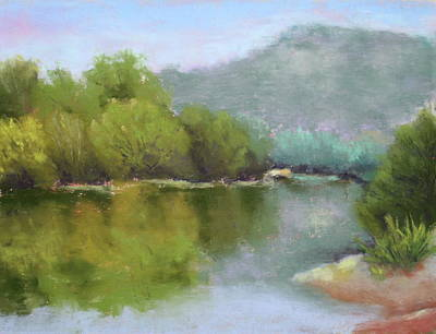 Art Print featuring the painting Summer On The River by Nancy Jolley