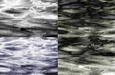 Digital Digital Art - Summer On The Rocks by Abstract Angel Artist Stephen K