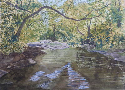 Art Print featuring the painting Summer On The South Tow River by Joel Deutsch