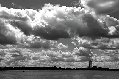Photograph - Summer On The St.clair River Bw by Mary Bedy