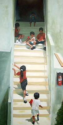 Summer On The Steps Original by Alan Schwartz