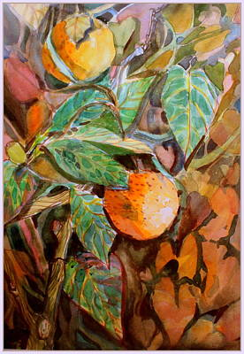 Drawing - Summer Oranges by Mindy Newman