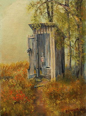 Painting - Summer Outhouse #2 by BJ Blair