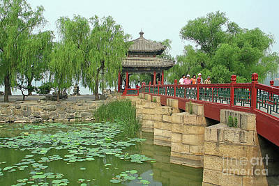 Photograph - Summer Palace Bridge by Teresa Zieba