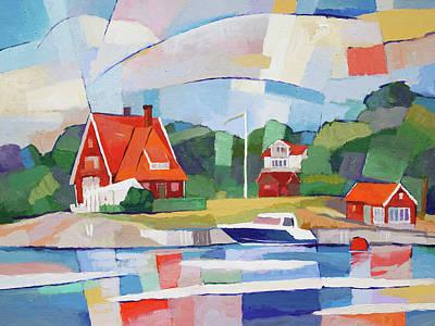 Painting - Summer Paradise by Lutz Baar