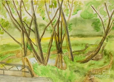 Painting - Summer Park, Painting by Irina Afonskaya