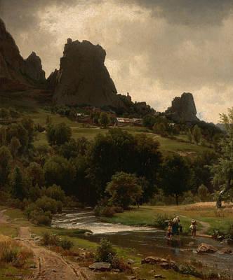 Worthington Painting - Summer Pastorale by Worthington Whittredge