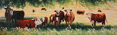Animals Paintings - Summer Pastures by Toni Grote