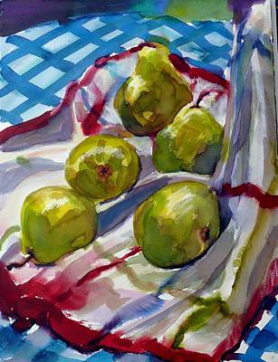 Summer Pears Art Print by Doranne Alden