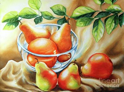 Summer Pears Art Print by Inese Poga