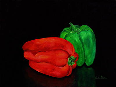 Painting - Summer Peppers by Charlotte Bacon