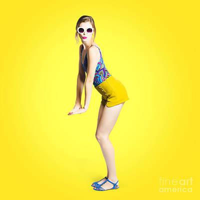 60s Hair Photograph - Summer Pin-up Woman by Jorgo Photography - Wall Art Gallery