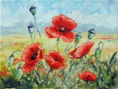 Flower Painting - Summer Poppies by Irek Szelag