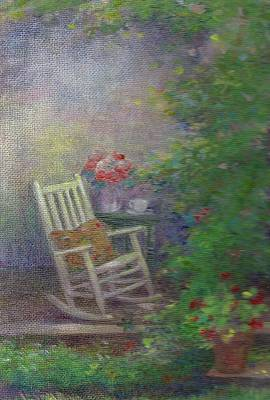 Painting - Summer Porch And Rocker by Judith Cheng
