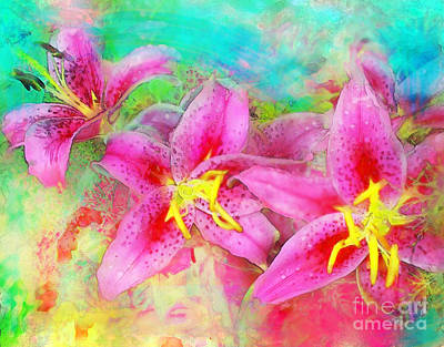 Digital Art - Summer Rain  by Gina Signore