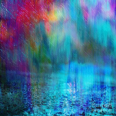 Rain Digital Art - Summer Rain by Klara Acel