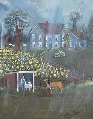 Painting - Summer Rain by Virginia Coyle