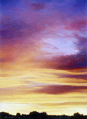 Napa Drawing - Summer Rainbow Sunset by Steven Gordon