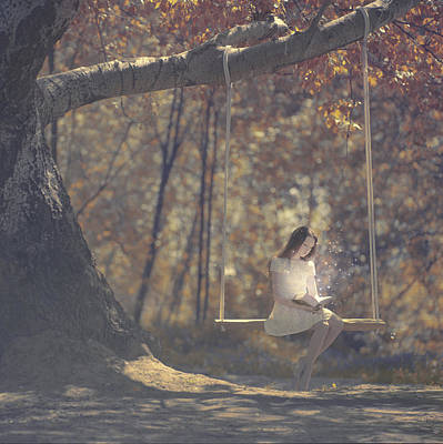 Swing Photograph - Summer Reading by Anka Zhuravleva