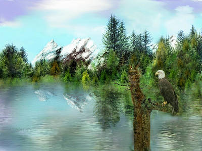 Digital Art - Summer Reflection by Joan Scarbrough