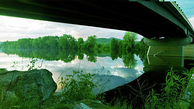 Photograph - Summer Reflections Along The Androscoggin River  by Mike Breau