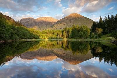 Photograph - Summer Reflections At Torren Lochan Glencoe by Stephen Taylor
