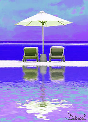 Summer Reflections Art Print by Deborah Rosier
