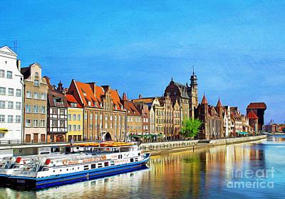 Summer Reflections In Gdansk Poland Art Print