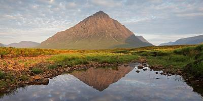 Photograph - Summer Reflections Of Buachaille Etive Mor by Stephen Taylor