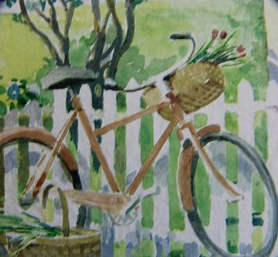 Summer Ride Art Print by Florene Welebny
