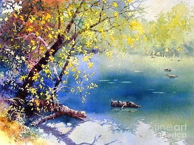 Painting - Summer River by Celine  K Yong