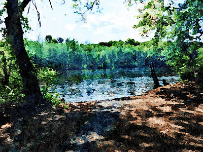 Mixed Media - Summer River Landscape by Femina Photo Art By Maggie