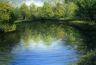 Summer River Art Print