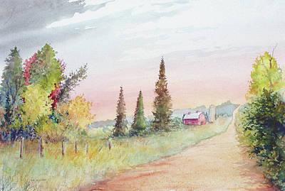 Summer Road Art Print